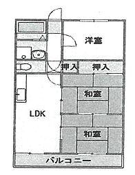 コア武庫之荘[202号室]の間取り