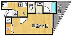 パークサイドハイツ[5階]の間取り