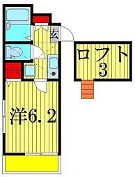 シャインハウス立石[2階]の間取り
