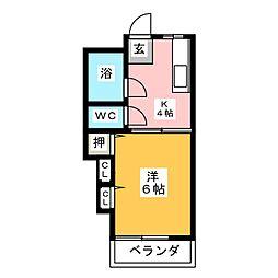 コーポ阪野[1階]の間取り