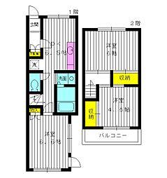 [テラスハウス] 東京都練馬区練馬2丁目 の賃貸【/】の間取り