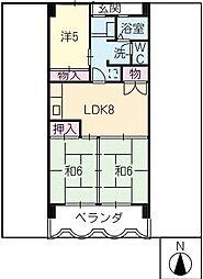 LIFE21[4階]の間取り