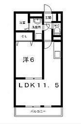 滋賀県栗東市安養寺7丁目の賃貸アパートの間取り