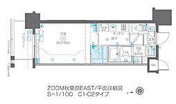 JR総武線 浅草橋駅 徒歩6分の賃貸マンション 3階1Kの間取り