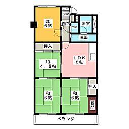 コープ野村一宮A棟307[3階]の間取り