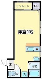 第2エミネンス長居[4階]の間取り