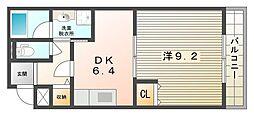 フジパレス池田[2階]の間取り
