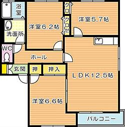 ディアス本城 A棟[2階]の間取り