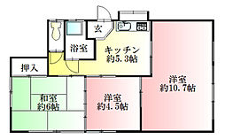 [一戸建] 埼玉県熊谷市末広2丁目 の賃貸【/】の間取り
