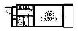 メディア武蔵関[302号室]の間取り