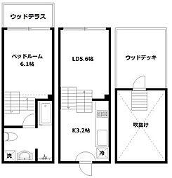 hike〜Skip floor terrace house〜[J号室]の間取り