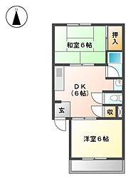 第2ハイツ志津[1階]の間取り