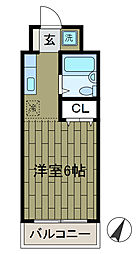 エステート中島[2階]の間取り