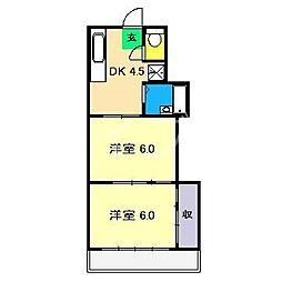 エクセルハウス三園II[5階]の間取り
