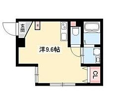 ARK岩塚駅南 C棟 1階1Kの間取り