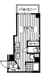 ファミールM&N[3階]の間取り
