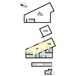 JR山手線 駒込駅 徒歩2分の賃貸アパート 3階1DKの間取り