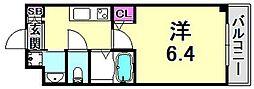 Haruma Flat 3階1Kの間取り