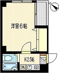 ファインズコート川崎南[5階]の間取り