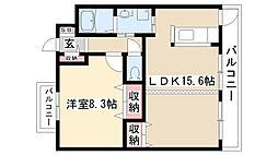 愛知県名古屋市守山区大牧町の賃貸マンションの間取り
