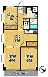 ヤマトマンション[301号室号室]の間取り