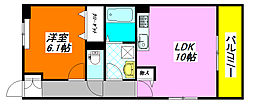 インペリアルライフ 107号室[1階]の間取り