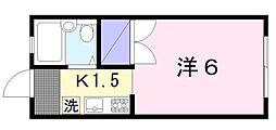 益田ハイム[205号室]の間取り