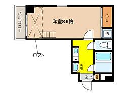 ペルル芦屋[4階]の間取り
