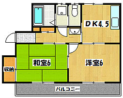 キャピタルハイツI[2階]の間取り