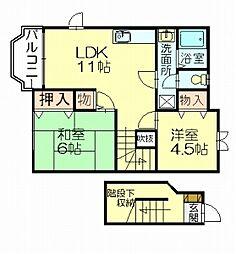 レオーネ島田[2階]の間取り