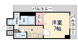 プライムコート川西多田[401号室]の間取り