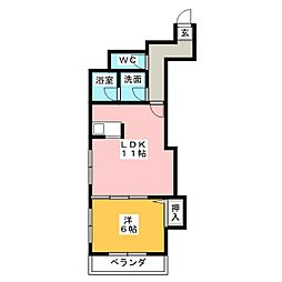 スプレンドール畑江[2階]の間取り