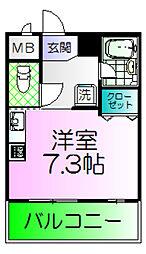 シュプレーム堺[8階]の間取り