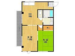 植田マンション[3階]の間取り