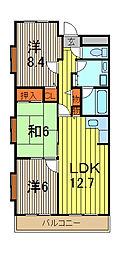 ホルツハイム[1階]の間取り