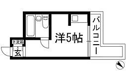 モンセリーチェ甲東園[2階]の間取り
