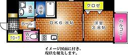 KATAYAMA BLDG  25[503号室]の間取り