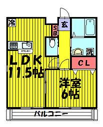 仮)草加4丁目共同住宅[102号室]の間取り