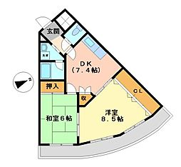 西一ビル[3階]の間取り