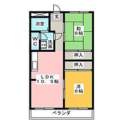 平和ビル[3階]の間取り