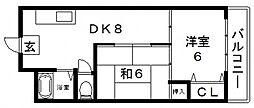 アメニティ新深江[242号室号室]の間取り