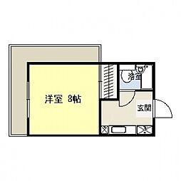 神奈川県横浜市港北区樽町2丁目の賃貸マンションの間取り