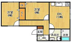 [一戸建] 兵庫県宝塚市米谷1丁目 の賃貸【/】の間取り