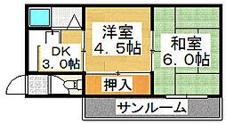 ハイツ千[1階]の間取り