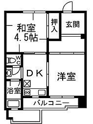 西喜ハイツ[2階]の間取り