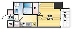 エスライズ東本町[4階]の間取り
