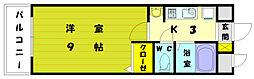 ギャラン赤間駅前[7階]の間取り
