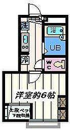 東京都葛飾区東四つ木3丁目の賃貸アパートの間取り
