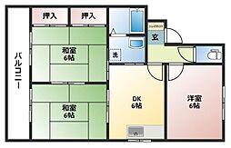 セジュールクリハラ B棟[2階]の間取り