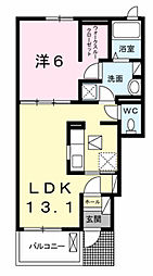 S&AスクエアVII[1階]の間取り
